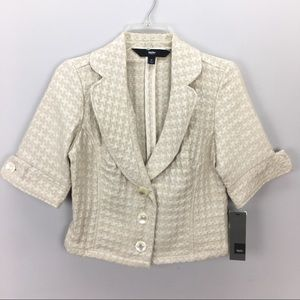 Mossimo New Cream Short Sleeve Blazer